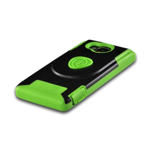 Trident Green/ Black Aegis Series Hard Case on Silicone w/ Screen Protector for Motorola Droid RAZR MAXX HD