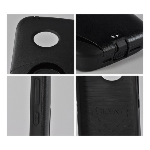 Black Trident Aegis Hard Cover Over Silicone Case w/Screen Protector for Nokia Lumia 822