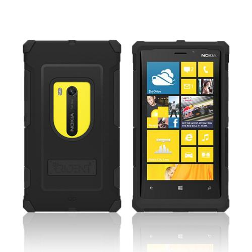 Trident Black Aegis Series Hard Cover on Silicone Case w/ Screen Protector for Nokia Lumia 920