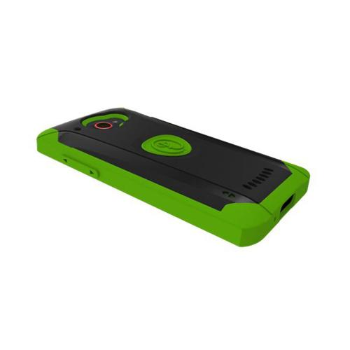 Trident Green/ Black Aegis Series Hybrid Case w/ Screen Protector for HTC Droid DNA