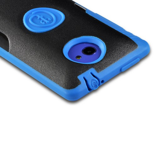 Trident Blue/ Black Aegis Series Hard Case on Silicone w/ Screen Protector for HTC 8X