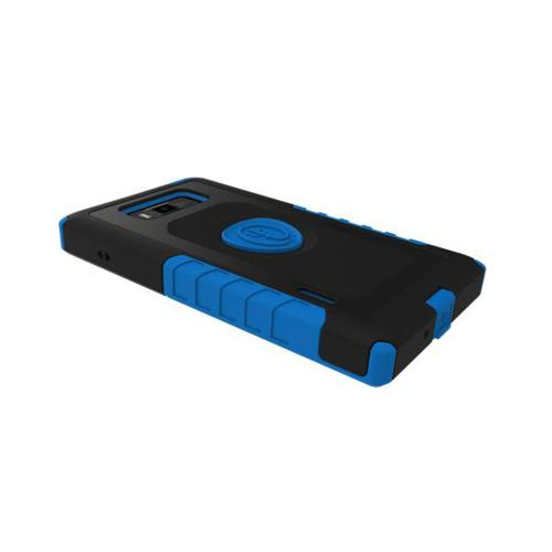 Trident Blue/ Black Aegis Series Hard Cover on Silicone Case w/ Screen Protector for LG Splendor