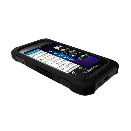 Trident Black Aegis Series Hard Case on Silicone w/ Screen Protector for Blackberry Z10