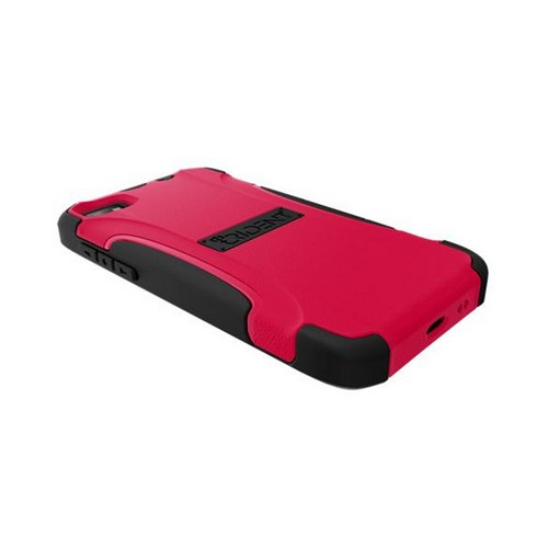 Trident Red/ Black Aegis Series Hard Case on Silicone w/ Screen Protector for Blackberry Z10