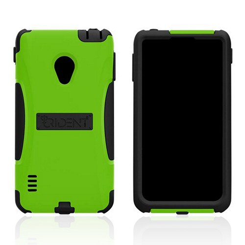 Trident Lime Green/ Black Aegis Series Hard Case on Silicone w/ Screen Protector for LG Lucid 2