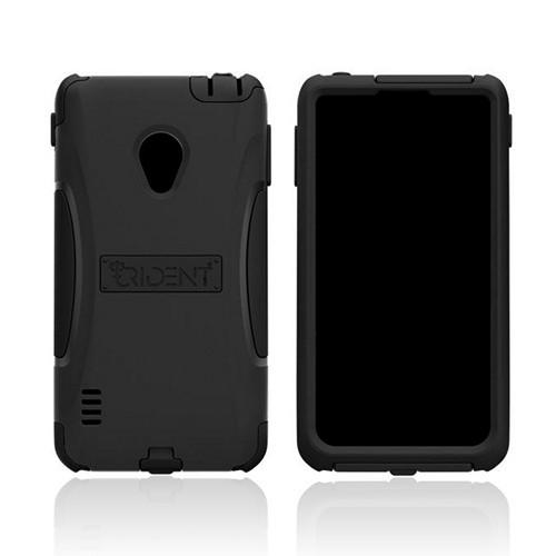 Trident Black Aegis Series Hard Case on Silicone w/ Screen Protector for LG Lucid 2