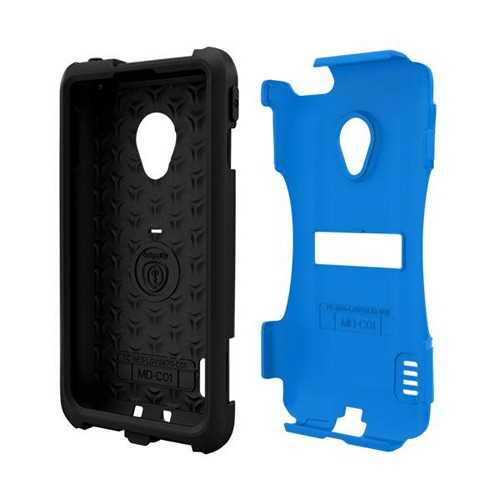 Trident Blue/ Black Aegis Series Hard Case on Silicone w/ Screen Protector for LG Lucid 2