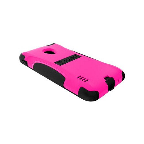 Trident Hot Pink/ Black Aegis Series Hard Case on Silicone w/ Screen Protector for LG Lucid 2