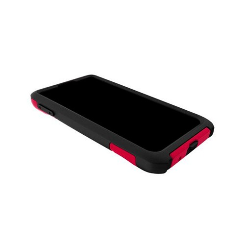 Trident Red/ Black Aegis Series Hard Case on Silicone w/ Screen Protector for LG Lucid 2