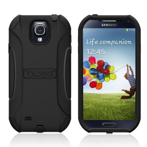Trident Black Aegis Series Hard Cover on Silicone Case w/ Screen Protector for Samsung Galaxy S4