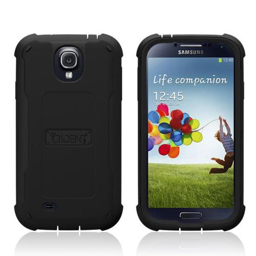 Trident Black Cyclops Series Thermo Poly Elastomer (Super TOUGH) Hard Case w/ Built-In Screen Protector for Samsung Galaxy S4