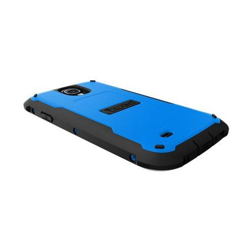 Trident Blue/ Black Cyclops Series Thermo Poly Elastomer (Super TOUGH) Hard Case w/ Built-In Screen Protector for Samsung Galaxy S4
