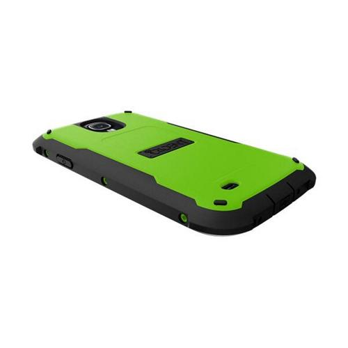 Trident Lime Green/ Black Cyclops Series Thermo Poly Elastomer (Super TOUGH) Hard Case w/ Built-In Screen Protector for Samsung Galaxy S4