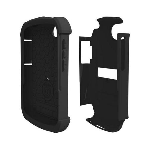 Trident Black Aegis Series Hard Case on Silicone Skin w/ Screen Protector for Blackberry Q10 - AG-BB-Q10-BK