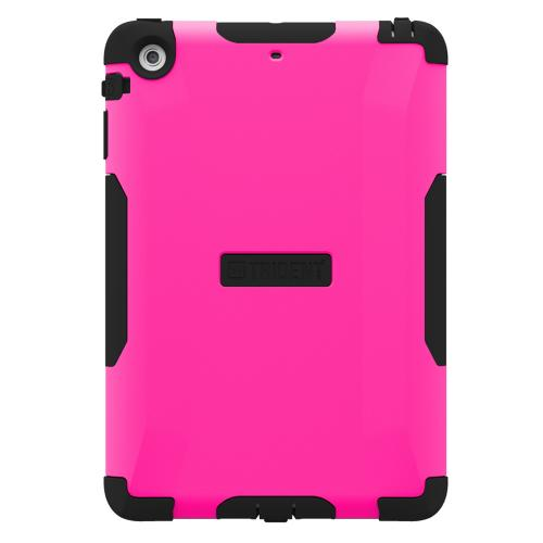 Trident Hot Pink/ Black Aegis Series Hard Case Over Silicone w/ Screen Protector for Apple iPad Mini 2 - AG-APL-IPADMINI2US-PNK