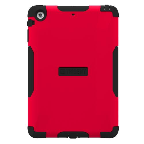 Trident Red/ Black Aegis Series Hard Case Over Silicone w/ Screen Protector for Apple iPad Mini 2 - AG-APL-IPADMINI2US-RED
