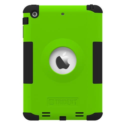 Trident Lime Green/ Black Kraken Ams Series Hard Case On Silicone Skin Case W/ Built-in Screen Protector For Apple Ipad Mini 2