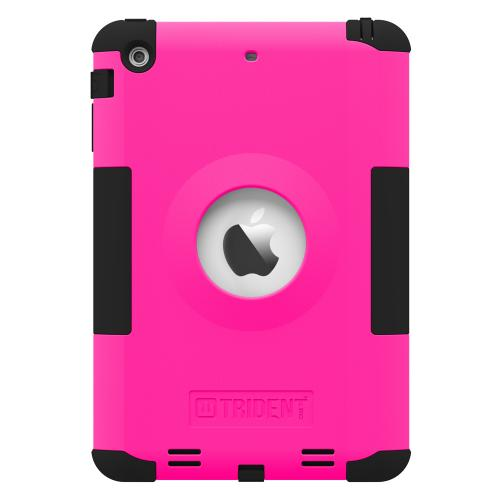 Trident Hot Pink/ Black Kraken Ams Series Hard Case On Silicone Skin Case W/ Built-in Screen Protector For Apple Ipad Mini 2