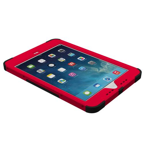 Trident Kraken AMS iPad Mini 2 Case | [Red] Kraken AMS Series Rugged Protective Hard Polycarbonate on Silicone Dual Layer Hybrid Case w/ Built-in Screen Protector for Apple iPad Mini 2 | Great Alternative to Otterbox!