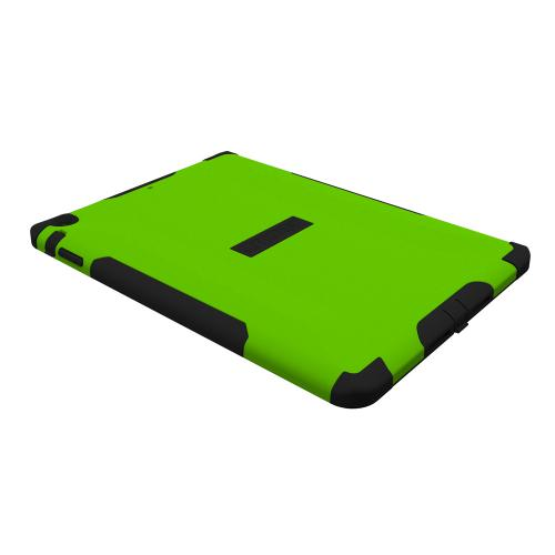 Trident Lime Green/ Black Aegis Series Hard Cover on Silicone Skin Case w/ Screen Protector for Apple iPad Air - AG-APL-IPAD5-TG