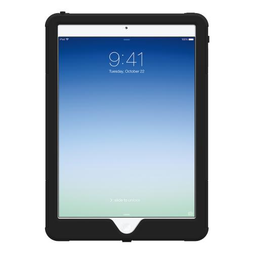 Trident Black Aegis Series Hard Cover on Silicone Skin Case w/ Screen Protector for Apple iPad Air - AG-APL-IPAD5-BK