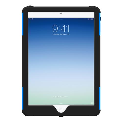 Trident Blue/ Black Aegis Series Hard Cover on Silicone Skin Case w/ Screen Protector for Apple iPad Air - AG-APL-IPAD5-BLU
