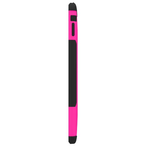 Trident Hot Pink/ Black Aegis Series Hard Cover on Silicone Skin Case w/ Screen Protector for Apple iPad Air - AG-APL-IPAD5-PNK