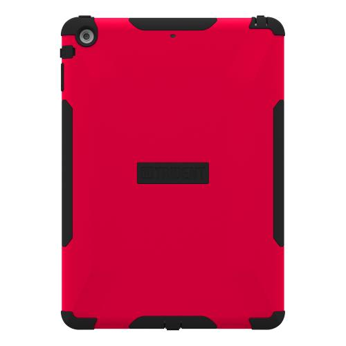 Trident Red/ Black Aegis Series Hard Cover on Silicone Skin Case w/ Screen Protector for Apple iPad Air - AG-APL-IPAD5-RED