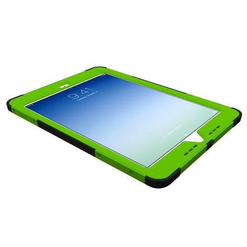 Trident Lime Green/ Black Kraken AMS Series Hard Cover on Silicone Skin Case w/ Built-In Screen Protector for Apple iPad Air - AMS-APL-IPAD5-TG