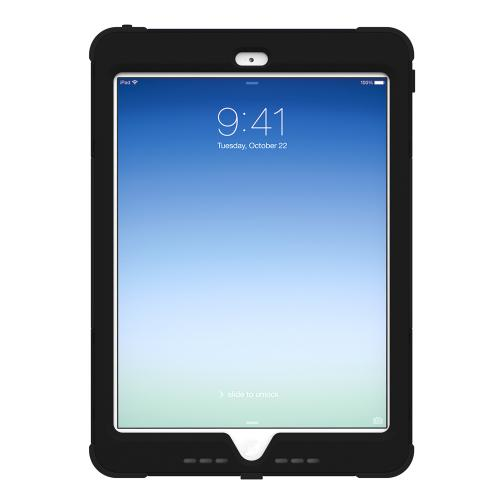 Trident Black Kraken AMS Series Hard Cover on Silicone Skin Case w/ Built-In Screen Protector for Apple iPad Air - AMS-APL-IPAD5-BK