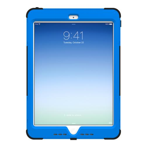 Trident Blue/ Black Kraken AMS Series Hard Cover on Silicone Skin Case w/ Built-In Screen Protector for Apple iPad Air - AMS-APL-IPAD5-BLU