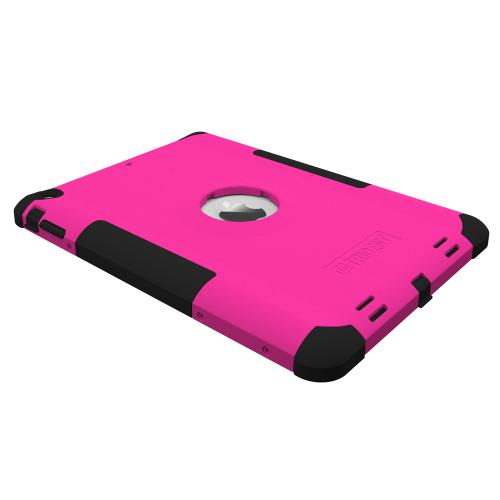 Trident Hot Pink/ Black Kraken AMS Series Hard Cover on Silicone Skin Case w/ Built-In Screen Protector for Apple iPad Air - AMS-APL-IPAD5-PNK