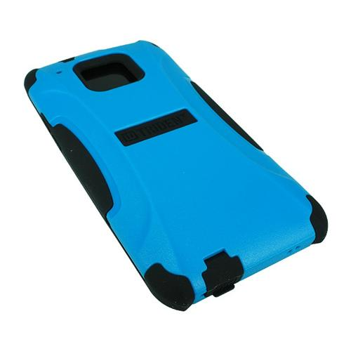 Trident Blue/ Black Aegis Series Hard Cover on Silicone Case w/ Screen Protector for HTC One Mini - AG-HTC-M4-BLU