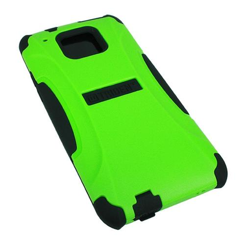 Trident Lime Green/ Black Aegis Series Hard Cover on Silicone Case w/ Screen Protector for HTC One Mini - AG-HTC-M4-TG