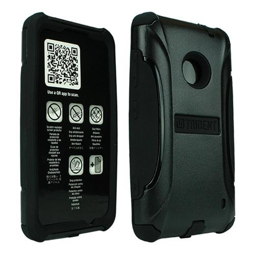 Trident Black Aegis Series Hard Cover on Silicone Case w/ Screen Protector for Nokia Lumia 520 - AG-NOK-LUMIA520-BK