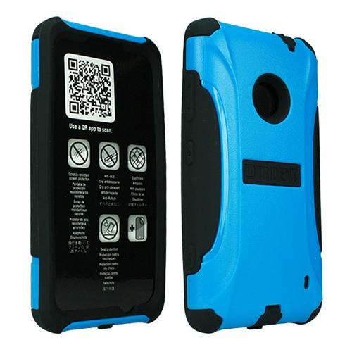 Trident Blue/ Black Aegis Series Hard Cover on Silicone Case w/ Screen Protector for Nokia Lumia 521 - AG-NOK-LUMIA520-BLU
