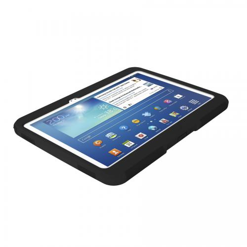 Black Trident Aegis Series Hard Case on Silicone w/ Screen Protector for Samsung Galaxy Tab 3 10.1 - AG-SAM-TAB3-BK