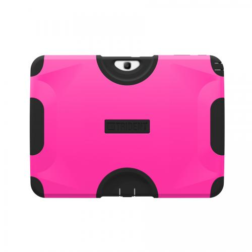 Hot Pink/ Black Trident Aegis Series Hard Case on Silicone w/ Screen Protector for Samsung Galaxy Tab 3 10.1 - AG-SAM-TAB3-PNK