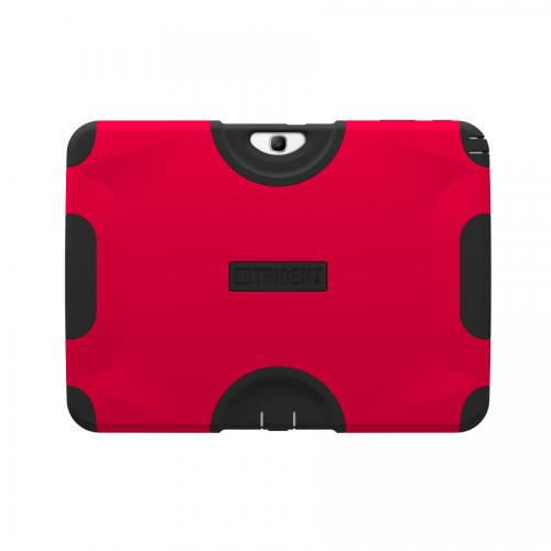 Red/ Black Trident Aegis Series Hard Case on Silicone w/ Screen Protector for Samsung Galaxy Tab 3 10.1 - AG-SAM-TAB3-RED
