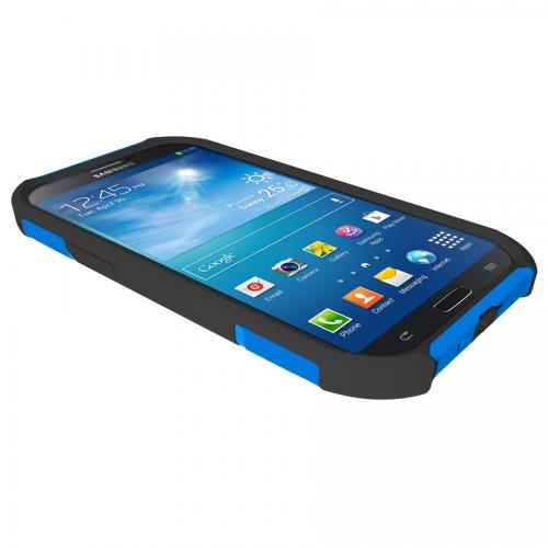 Trident Blue/ Black Aegis Series Hard Cover on Silicone Skin Case w/ Screen Protector for Samsung Galaxy Mega 6.3 - AG-SAM-MEGA-BLU