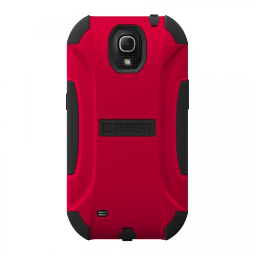 Trident Red/ Black Aegis Series Hard Cover on Silicone Skin Case w/ Screen Protector for Samsung Galaxy Mega 6.3 - AG-SAM-MEGA-RED