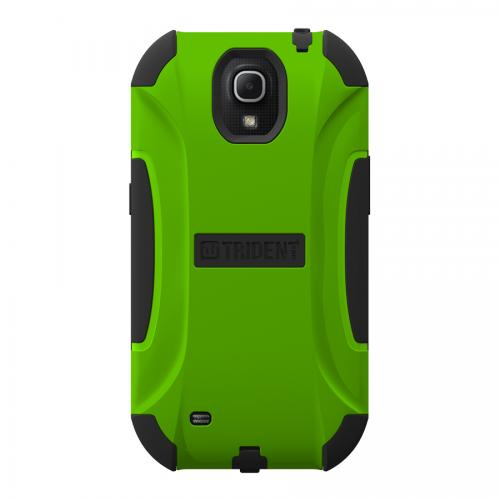 Trident Lime Green/ Black Aegis Series Hard Cover on Silicone Skin Case w/ Screen Protector for Samsung Galaxy Mega 6.3 - AG-SAM-MEGA-TG