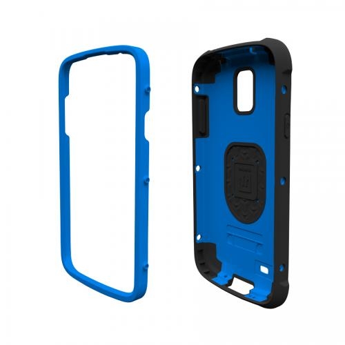 Trident Blue/ Black Cyclops Series Thermo Poly Elastomer (Super TOUGH) Hard Case w/ Built-In Screen Protector for Samsung Galaxy S4 Active - CY-SAM-S4ACT-BLU