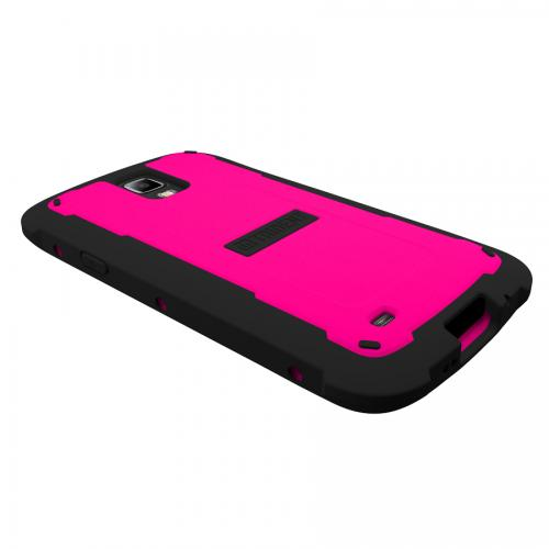 Trident Hot Pink/ Black Cyclops Series Thermo Poly Elastomer (super Tough) Hard Case W/ Built-in Screen Protector For Samsung Galaxy S4 Active