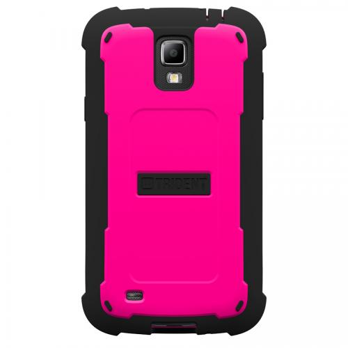 Trident Hot Pink/ Black Cyclops Series Thermo Poly Elastomer (Super TOUGH) Hard Case w/ Built-In Screen Protector for Samsung Galaxy S4 Active - CY-SAM-S4ACT-PNK