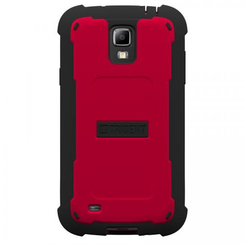 Trident Red/ Black Cyclops Series Thermo Poly Elastomer (super Tough) Hard Case W/ Built-in Screen Protector For Samsung Galaxy S4 Active