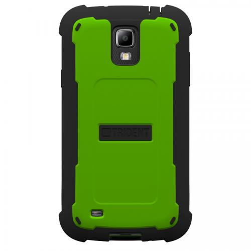 Trident Lime Green/ Black Cyclops Series Thermo Poly Elastomer (super Tough) Hard Case W/ Built-in Screen Protector For Samsung Galaxy S4 Active