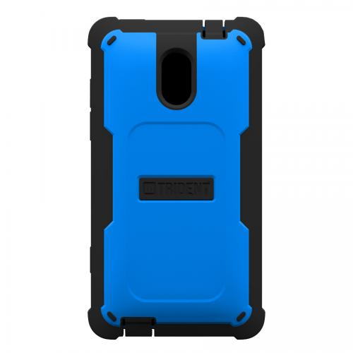 Trident Blue/ Black Cyclops Series Thermo Poly Elastomer (Super TOUGH) Hard Case w/ Built-In Screen Protector for HTC 8XT - CY-HTC-8XT-BLU