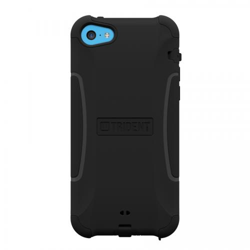 Trident Black Aegis Series Hard Cover on Silicone Skin Case w/ Screen Protector for Apple iPhone 5C - AG-APL-IPH5C-BK