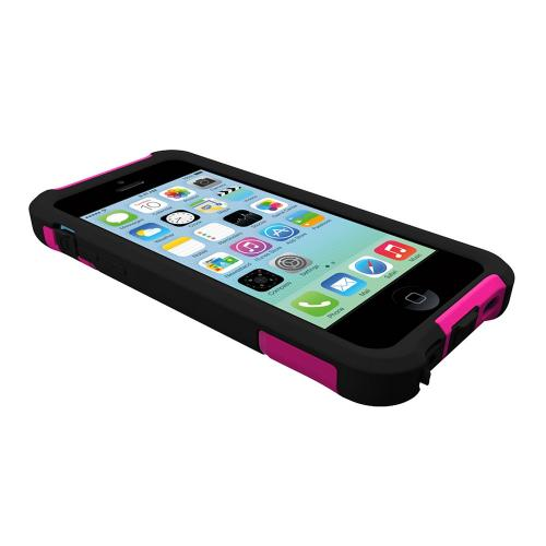 Trident Hot Pink/ Black Aegis Series Hard Cover on Silicone Skin Case w/ Screen Protector for Apple iPhone 5C - AG-APL-IPH5C-PNK